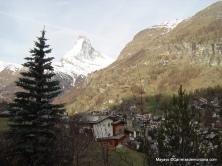 Zermatt. El Cervino visto desde el pueblo, un icono.