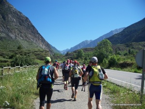 Ultra trail Aneto 2008: Saliendo de Benasque.