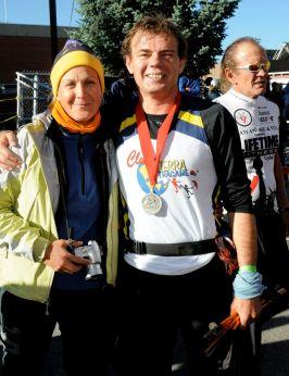 Leadville 100 Miles 2010. Saboreando el momento en meta.