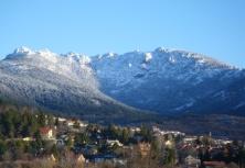 Sierra del Dragón sobre Cercedilla, vista invernal