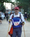 bastones trail plegables en leadville 100 millas 2010