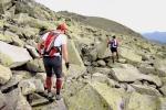 Cresta de Claveles durante  Gran Trail Peñalara 2010. Km 70 de carrera aprox.
