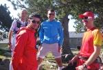Entreno en Font Romeu: Cristóbal, Kilian, Miguel, Edu. Foto:Mayayo