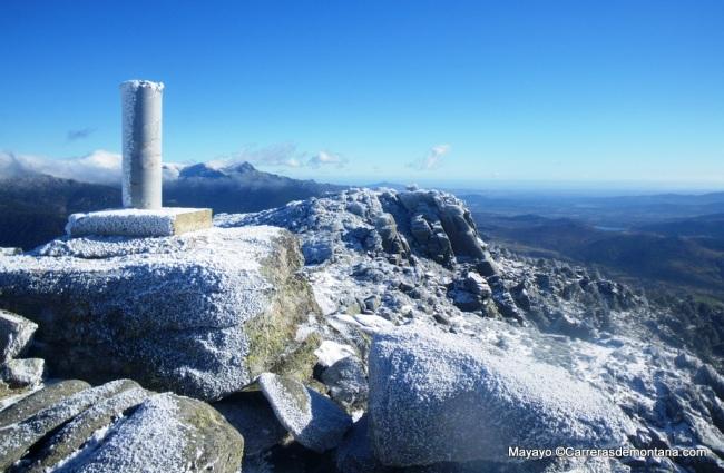 Panorámica del Pico Alejo carpentier hacia la meseta madrileña.