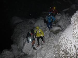 Tres capas montaña: Trail running invernal a la Peñota