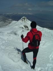 Arrancando la Cresta de Claveles desde Peñalara. Foto Mayayo.