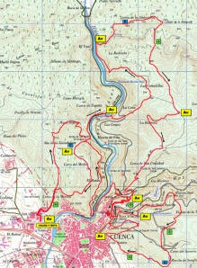 Carrera montaña Cuenca 2012 FEDME Mapa de carrera