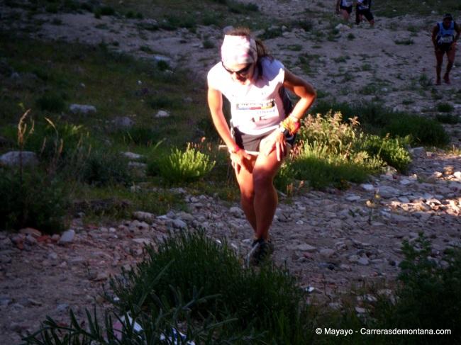 Fotos Maratón Alpino Madrileño  María llegando al Puerto 1