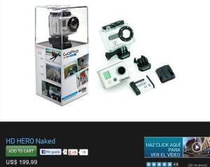 Comprar Gopro hero original Naked