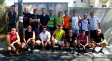 Grupo completo Salomon Suunto Twitter trail exchange, a correr por Collserola con 36ºC. Afición ;)