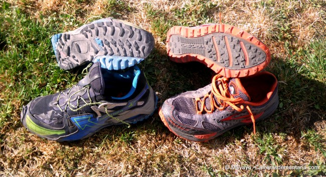 zapatillas ultra trail brooks cascadia 7 vs raidlight RL-001
