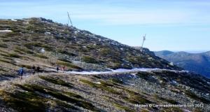 Rutas Trail Guadarrama: Maraton Alpino Bandolero. Senda media ladera desde Pluviómetro  hasta Cafetería ski.
