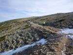 Rutas Trail Guadarrama: Maraton Alpino Bandolero. Detalle senda retorno a Cafetería ski.