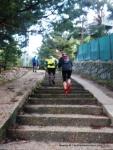 Rutas Trail Guadarrama: Maraton Alpino Bandolero. Escaleras de la estación FC Pto Navacerrada