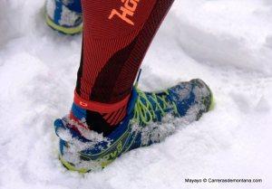 Inov 8 trailroc 245 zapatilla trail minimalista 120€ 245gr Excelente tracción sobre nieve.