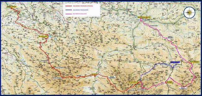 Mapa Travesera Picos Europa 2013 y Traveserina Carrerasdemontana.com