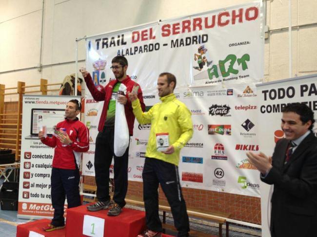 Trail del Serrucho 2013: Podio absoluto Masculino. Campeón José Irurozqui.