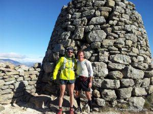 Chaqueta Lafuma speedtrail en rodaje Cerro San pedro Carlos Micra con Pedro Garmendia