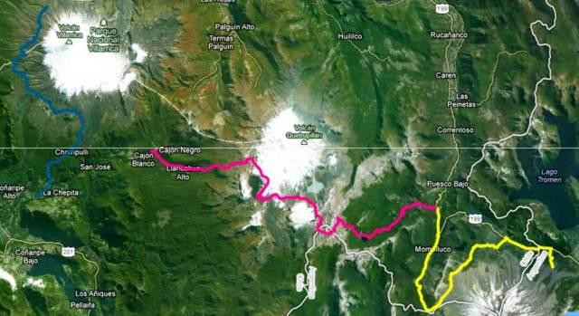 Cruce de los Andes 2013 Mapa de carrera