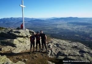 Entrenamiento trail running en la cima del Pico Abantos. (1.753 metros)