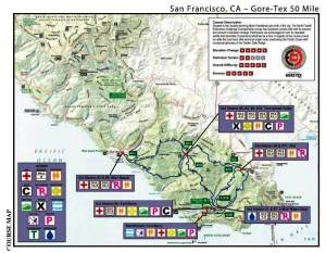 Mapa TNF 50 MIles San Francisco. ganada 2 veces por Miguel Heras