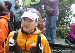 Zigor Iturrieta en meta UTMB12. Un día duro, resuelto con enorme pundonor.