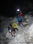 Acidente de montaña: Subida de trail nocturna nevada a Peñota