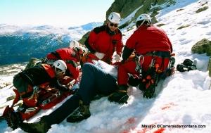 Accidente de Montaña: Rescate de herido en Circo Superior Peñalara. Foto: Mayayo.
