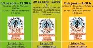 Entrenamiento Trail: Plan entrenos guiados GTP2013.
