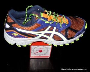 Zapatillas Trail Asics Fuji Attack 2: Peso 315 gramos para 43 1/3 EUR