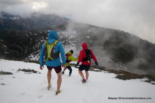 Chaquetas de montaña en Maliciosa invernal