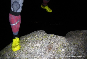 Zapatillas trail Haglofs Gram Comp: Buen agarre en roca seca.