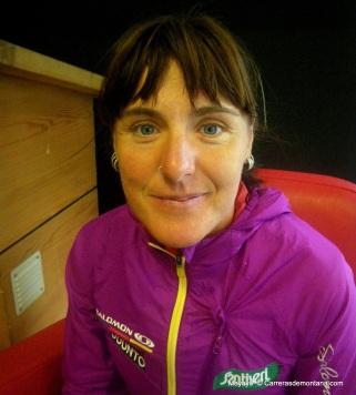 1-Nerea Martinez en Chamonix la vispera de utmb 2012 foto carrerasdemontana.com