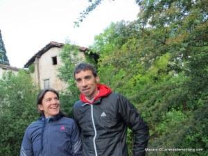 Adidas Trail: Equipo competición 2013. Luis Alberto Hernando y Uxué Fraile en Zegama.
