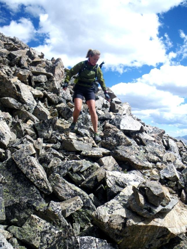 Anton Krupicka Nolan 14 descenso pico La Plata
