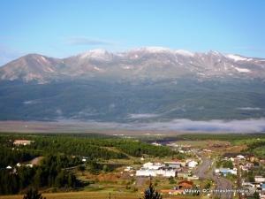 """Mt Massive sobre Leadville: Primer Fourteener en """"Los 14 de Nolan"""" que aborda Krupicka."""