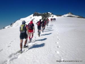 Gran Trail peñalara 2013 : Entrenamiento guiado sobre nieve a cresta Claveles.