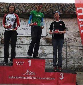 Kilometro Vertical la Barranca Podio Femenino Foto Belen Diez