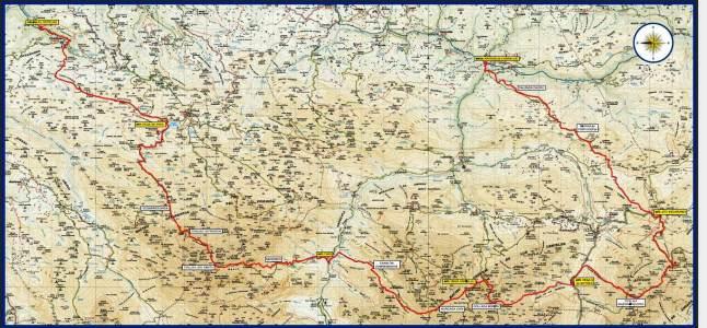Mapa Travesera Picos Europa 2013 Carrerasdemontana