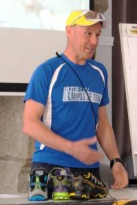 Salvador Calvo Redondo del equipo Tecnica en campus trail ultrarun mayo 2013. Foto: Kataverno