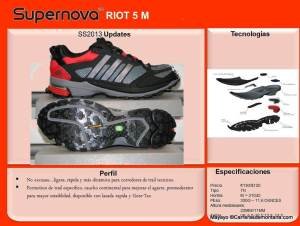 Zapatillas Trail Adidas Supernova Riot 5. Ficha técnica.