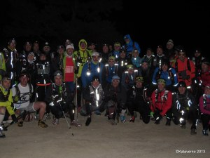 Entrenamiento trail GTP13 La Barranca: Salida nocturna invernal a Maliciosa.