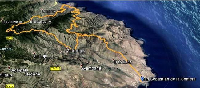 Carreras Montaña Canarias Gomera Paradise 2013 Mapa ULtra por Carrerasdemontana.com