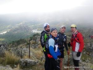 cecilio perez agudo en ultra bandolero 2012 con Chelis Valle, Fernando gª molina y David Gonzalez