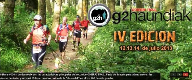 Ehunmilak 2013 G2Haundiak - Goierri Trail. Presentacion