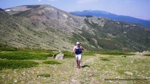 Rutas Montaña Maratón Alpina Dos Canchales. Saliendo del tramo más árido de los Tubos de Cabezas.