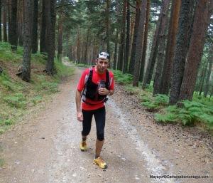 Rutas Montaña Maratón Alpina Dos Canchales: carreterilla final hacia Valsaín.
