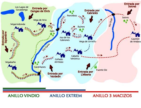Rutas Picos Europa: El Anillo de Picos en sus tres versiones.
