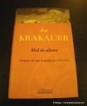 Libros de montaña: Mal de Altura por Jon Krakauer