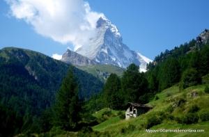 El Cervino, rey y señor de las alturas de Zermatt con sus 4.478 metros.